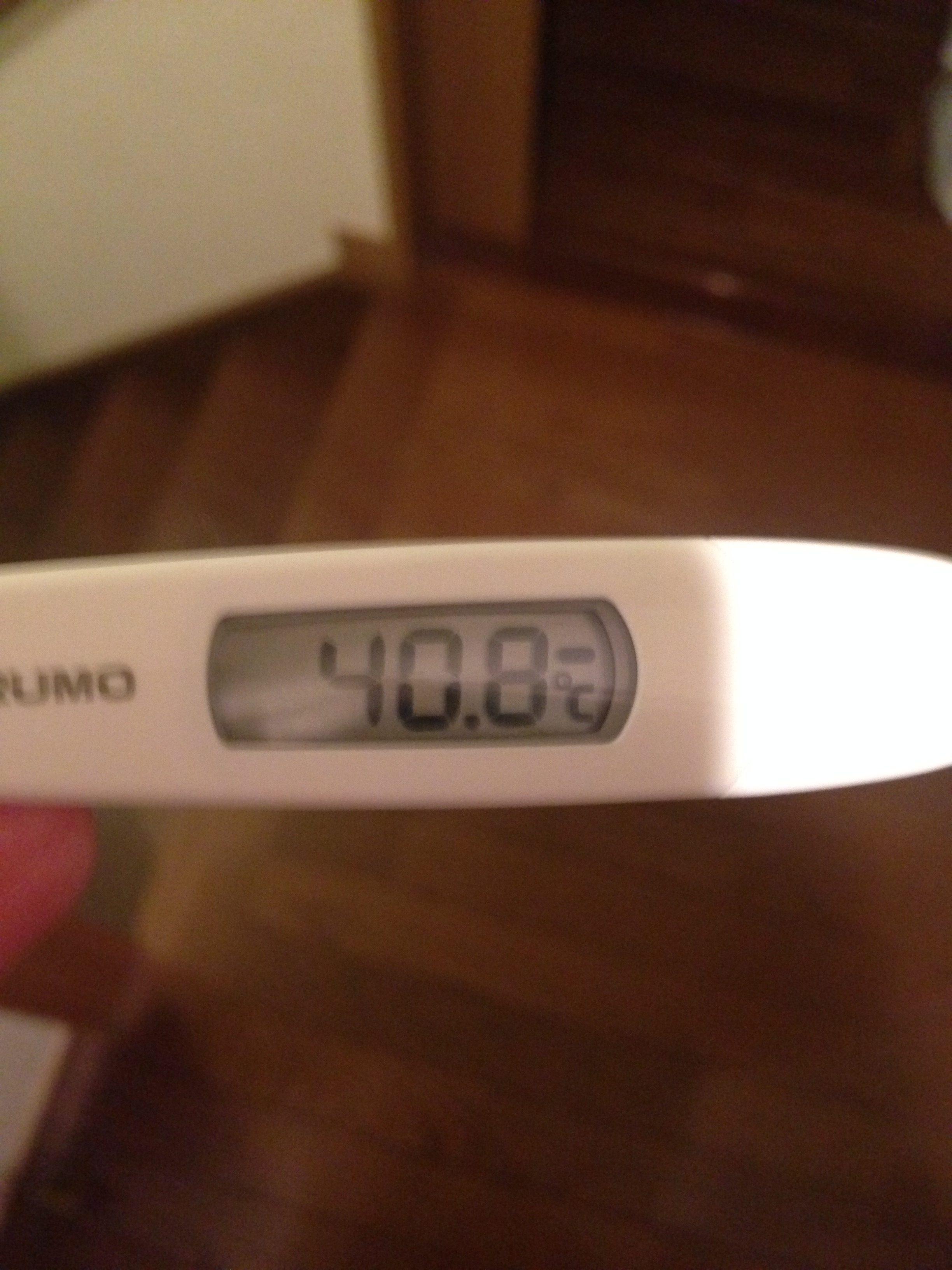 高熱 体温計写真